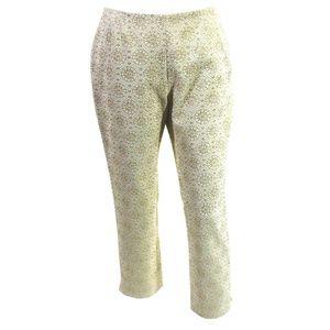 CELINE Gold Metallic Embossed Pants Size 6 (EUR38)